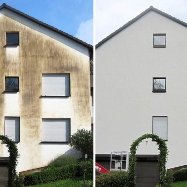 Nettoyage façade avant apres
